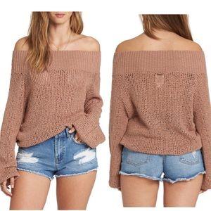Billabong Rolled Up Off The Shoulder Sweater